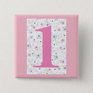 """my house number -1- 5.1cm (2"""") Square Badge 2 Inch Square Button"""