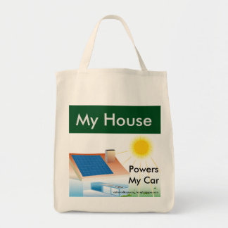 My House Powers My Car - grocery bag
