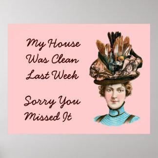 My House Was Clean Last Week Poster