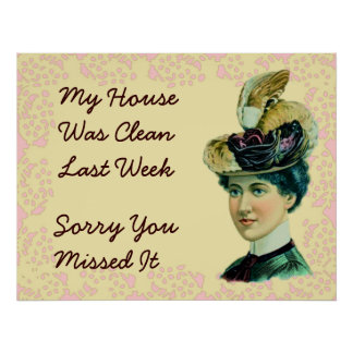 My House Was Clean Last Week Poster