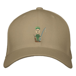 My Hunting Fishing Fitted Hat Embroidered Baseball Cap