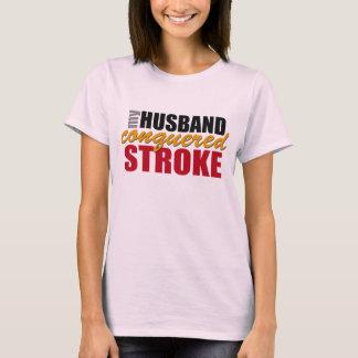 My Husband Conquered Stroke Shirt