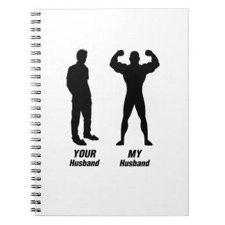 My Husband Funny Gift Bodybuilder Gym Spiral Notebook