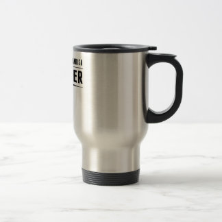 My Husband Is A Butcher Travel Mug