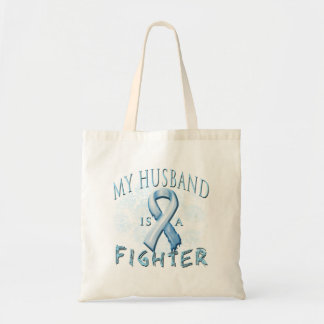 My Husband is a Fighter Light Blue Bag