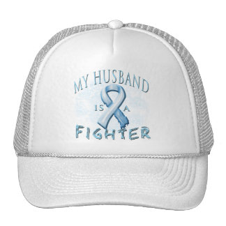 My Husband is a Fighter Light Blue Mesh Hat