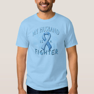 My Husband is a Fighter Light Blue T-shirts