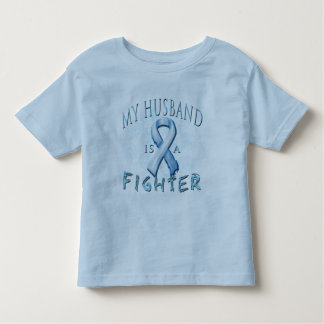 My Husband is a Fighter Light Blue Toddler T-shirt
