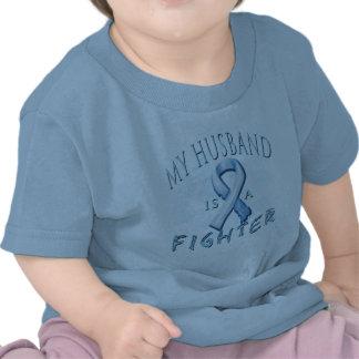 My Husband is a Fighter Light Blue Tee Shirt