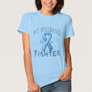 My Husband is a Fighter Light Blue Tshirts