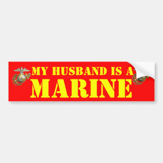 MY HUSBAND IS A MARINE BUMPER STICKER