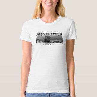 My Husband is a Mayflower Descendant T-Shirt