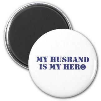 My husband is my hero refrigerator magnet