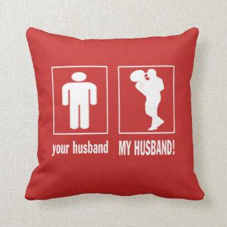 MY HUSBAND - TROMBONIST THROW PILLOW