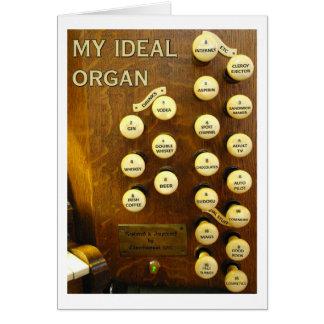 My ideal organ card