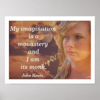 My Imagination -- art print --- John Keats