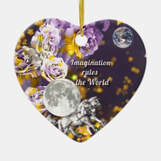 My imagination is endless ceramic ornament