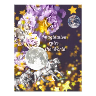 My imagination is endless letterhead