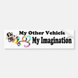 My Imagination Mermaid Bumper Sticker