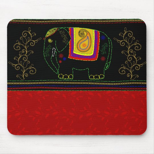 My Indian Elephant - Indian Red Mouse Pad