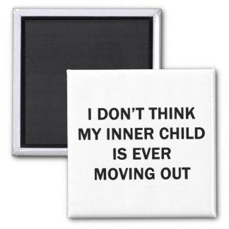 My Inner Child Square Magnet