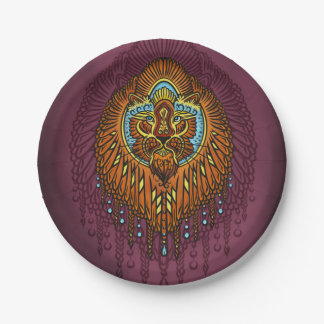 My inner voice, Tarot, strength, innerpower Paper Plate