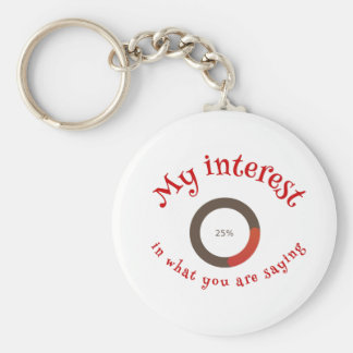 My interest in what you are saying keychain