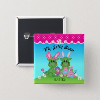 My Jelly Bean Babies Dragon Easter Bunnies Button