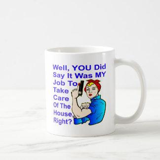 My Job To Take Care Of The House Coffee Mug