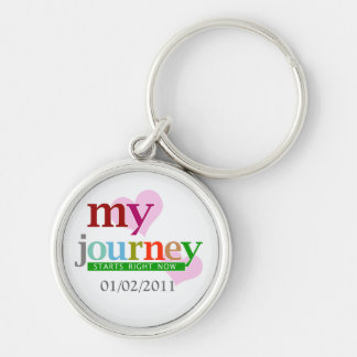 My Journey Starts Now Silver-Colored Round Keychain