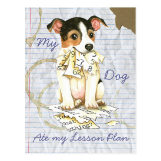 My JRT Ate My Lesson Plan Postcard