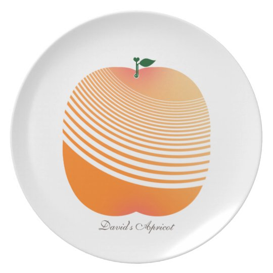 My Juicy Apricot Melamine Plate