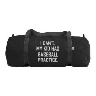 My Kid Has Baseball Practice Funny Gym Bag