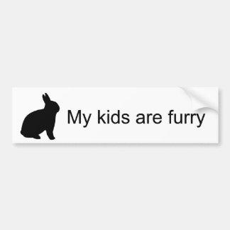 My Kids are Furry (Bunny)Bumper Sticker Bumper Sticker