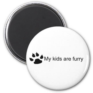 My Kids Are Furry (Dog Paw) Magnet