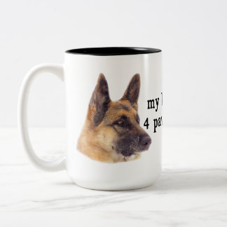 My Kids are  German Shepherds Two-Tone Coffee Mug