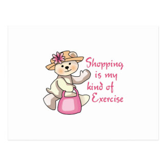 MY KIND OF EXERCISE POSTCARD