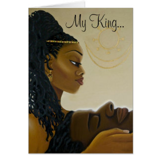 'My King' Greeting Card with poem