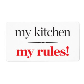 My Kitchen, My Rules Shipping Label