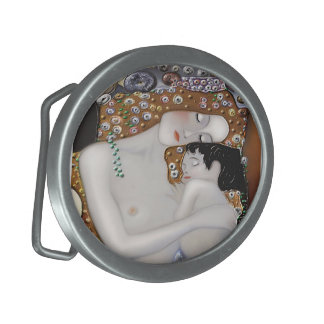 My Klimt Serie : Mother & Child Oval Belt Buckle