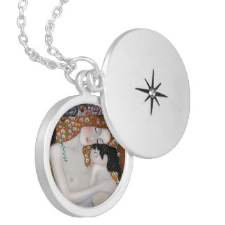 My Klimt Serie : Mother & Child Silver Plated Necklace