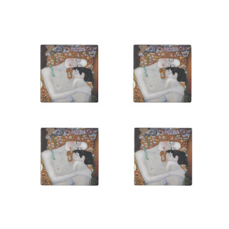 My Klimt Serie : Mother & Child Stone Magnets