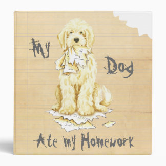 My Komondor Ate My Homework Vinyl Binders