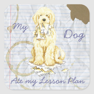 My Komondor Ate My Lesson Plan Square Sticker
