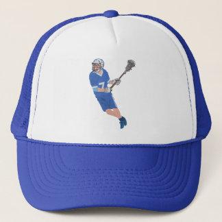 my lacrosse male player trucker hat