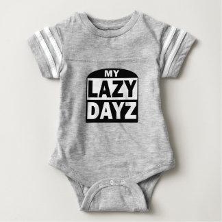 My Lazy Dayz Baby Football Bodysuit