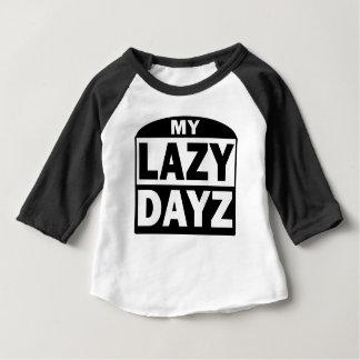 My Lazy Dayz Cute Funny Sleeve Blach White T-Shirt