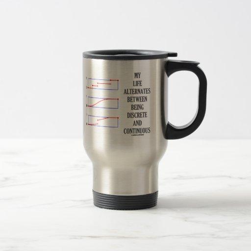 My Life Alternates Between Discrete Continuous Coffee Mug