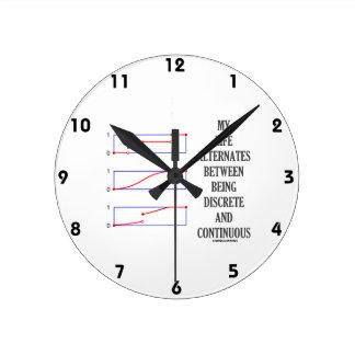 My Life Alternates Between Discrete Continuous Wall Clock