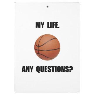 My Life Basketball Clipboard